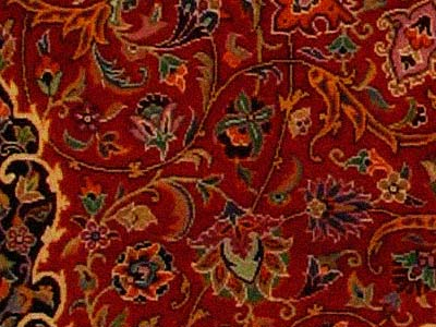Isfahan carpet close up