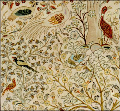 Lahore Bird Carpet Detail