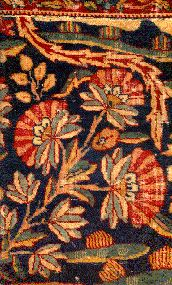 Mughal carpet with anqa detail